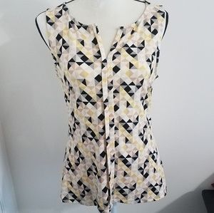 White House Black Market Pattern Sleeveless Top S